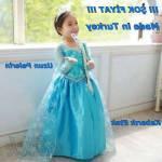 Elsa Elbise, Elsa Kostümü 3-11 Yaş (Kabarık)