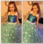 Frozen Elsa Kostümü,karlar Ülkesi Abiye Çocuk Tarlatanlı