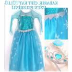 Elsa Kostümü, Karlar Ülkesi Frozen Elsa Kostüm, Elsa Kız Çocuk Elbise