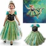 Anna Kostümü Kız Çocuk Kostüm Frozen Kostüm Elsa Kostümü Kız Çocuk Gelinlik Anna Doğum Günü Kostümü