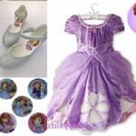 Prenses Sofia Kostümü, Kabarık Kız Çocuk Elbise, Frozen Kostüm